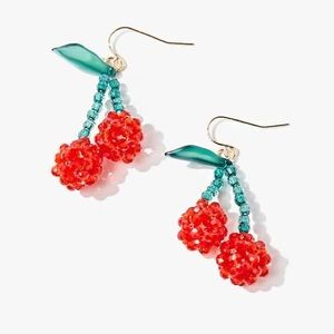 NWOT Cherry Dangle Earrings